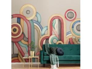 Mural Tres Tintas Rúbrica Caligrama M3401-2
