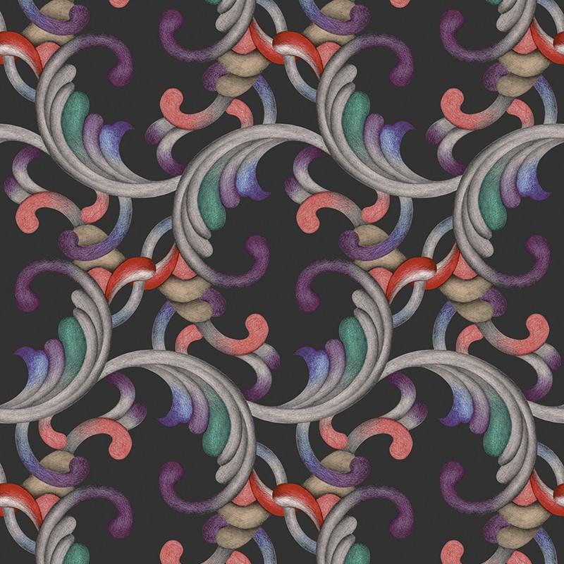 Papel pintadoTres Tintas Rúbrica Romance RU3403-3