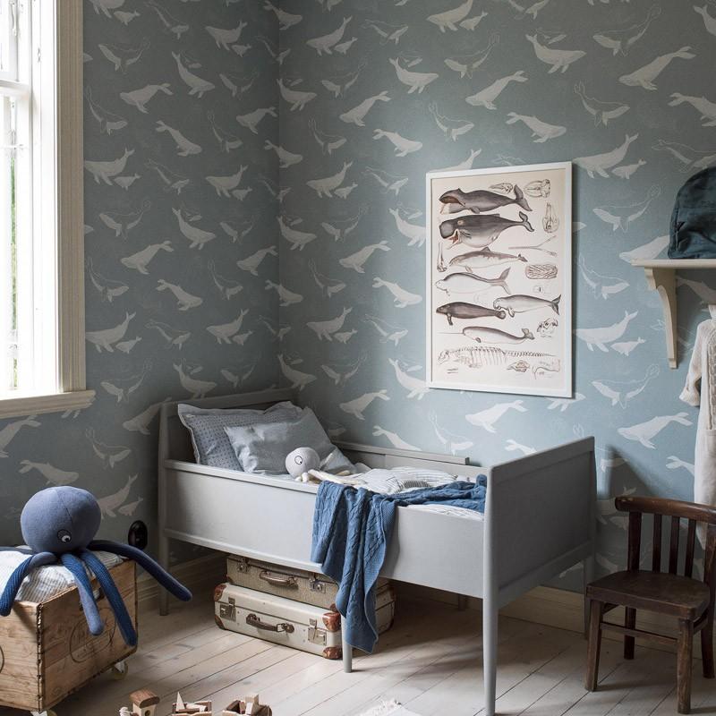 Papel pintado infantil Boras Tapeter Newbie Whales 7453