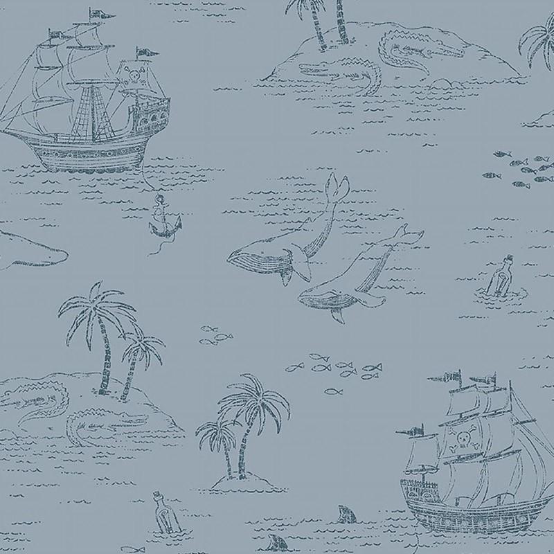 Papel pintado infantil Boras Tapeter Newbie Treasure Island 7451