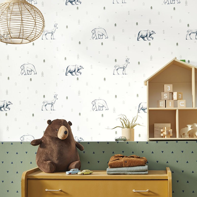 Papel pintado infantil Caselio Our Planet Grizzly Bears OUP101987403