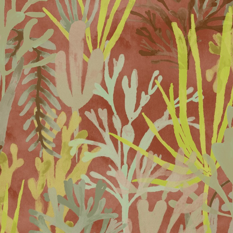 Papel pintado Flower power Algues TP 303 02