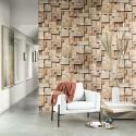 Mural Woods Cubes WOOD 8608 25 48 Casadeco