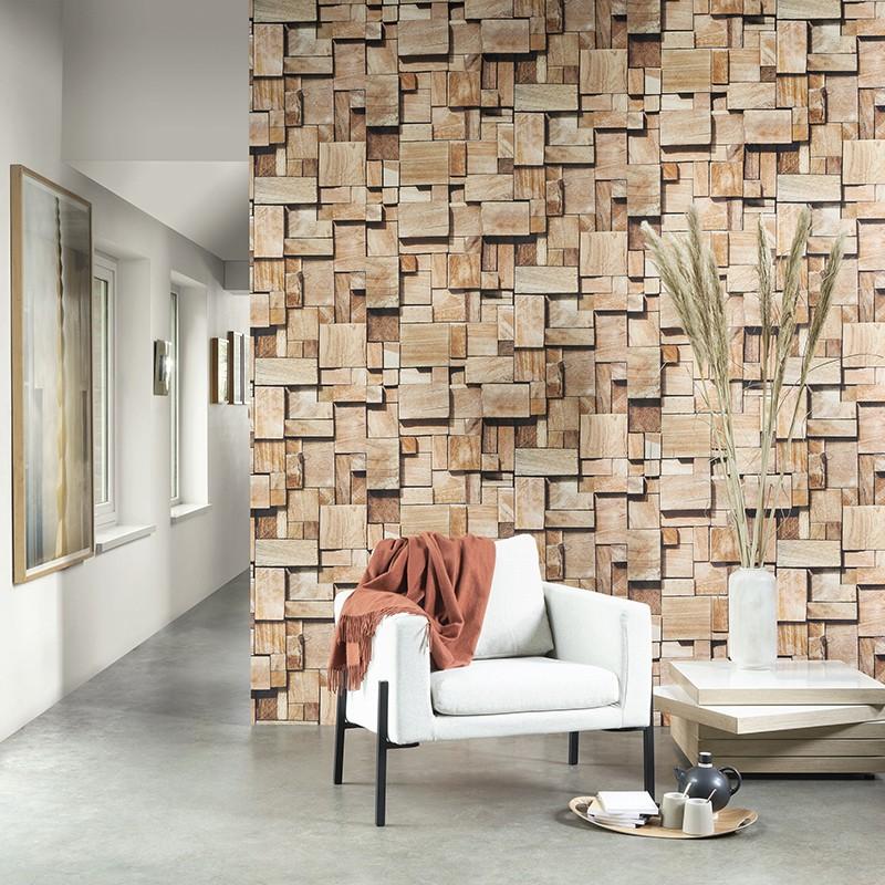 Mural Casadeco Woods Cubes WOOD86082548