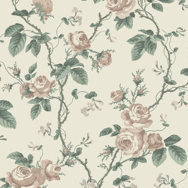 Papel Pintado French Roses In Bloom 7211