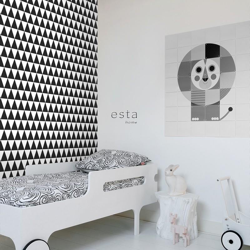 Black & White ESTAhome Papel pintado 128845