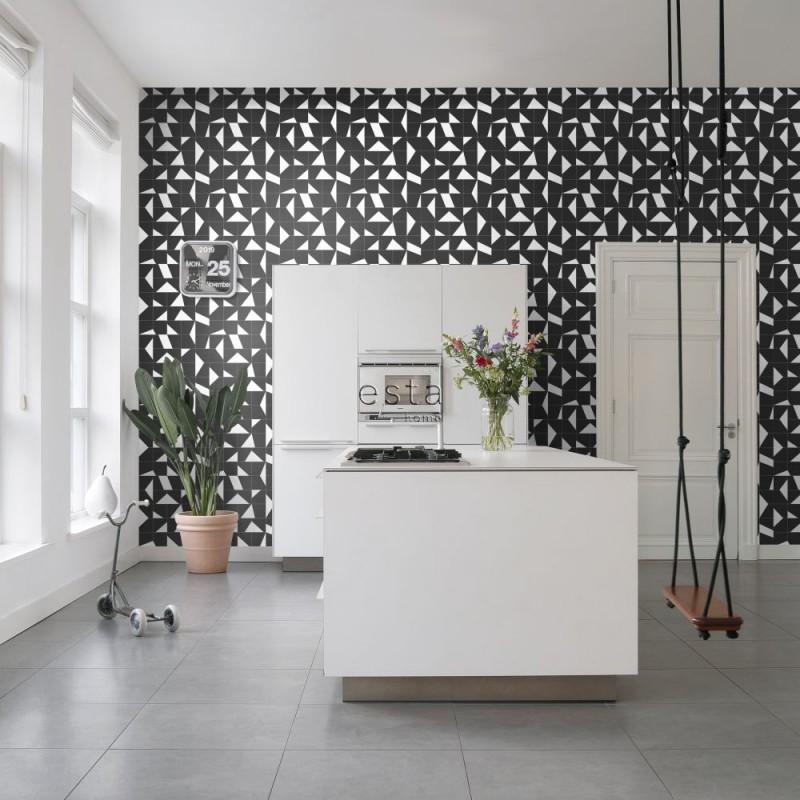 Black & White ESTAhome Papel pintado 139087