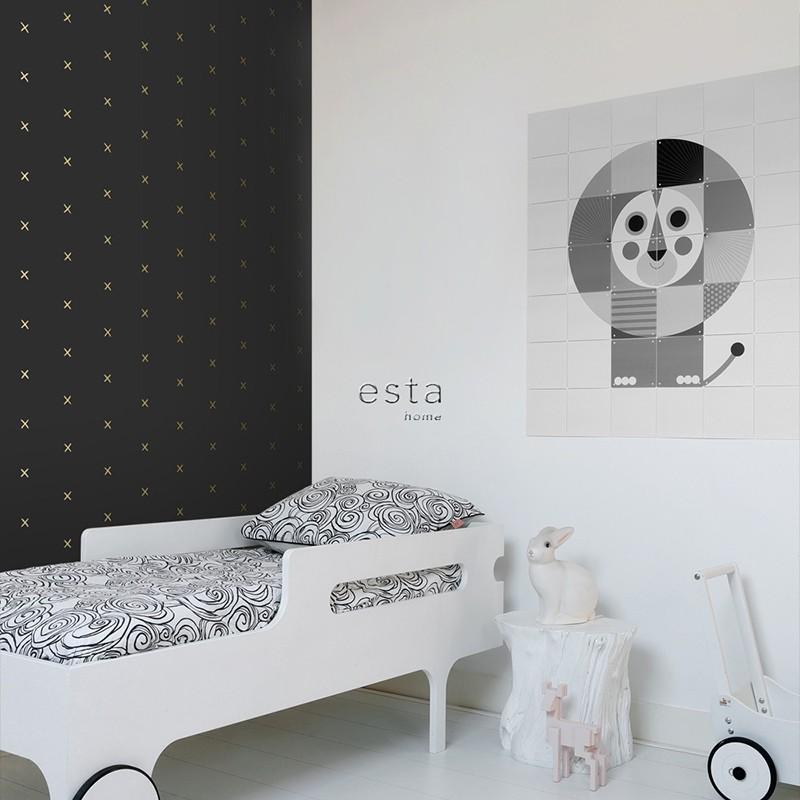 Black & White ESTAhome Papel Pintado 139130