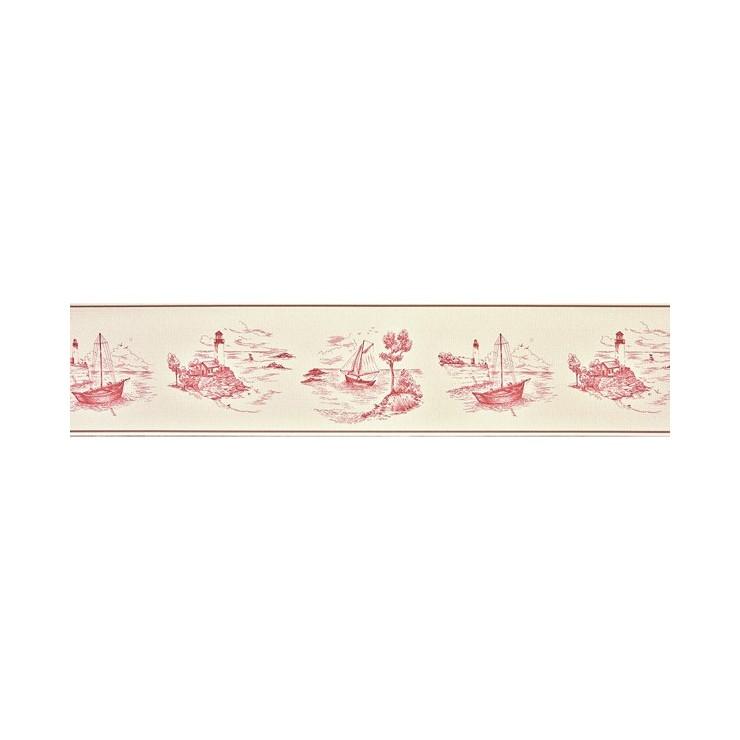 Casadeco cenefa de papel pintado marina para pared tienda - Cenefas papel pintado para paredes ...