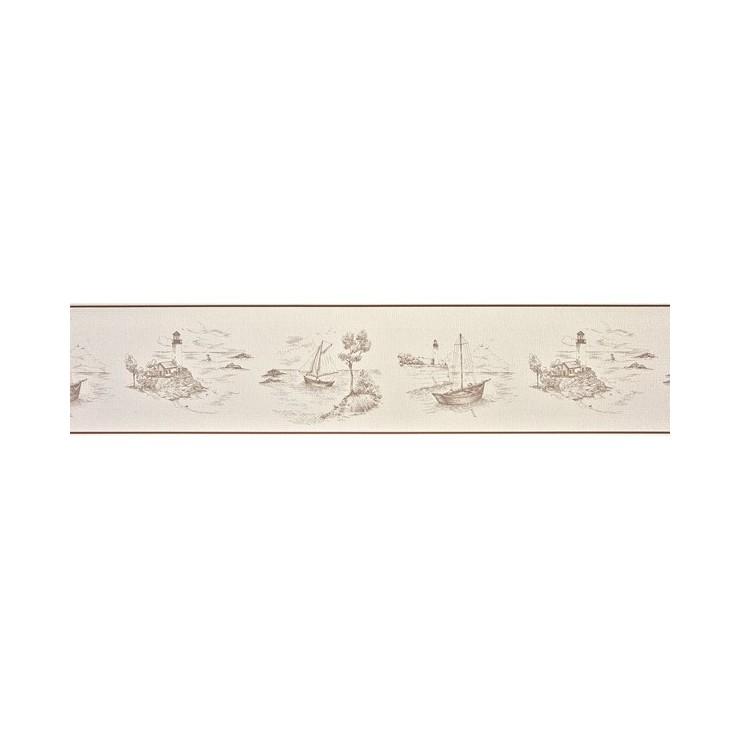 Casadeco cenefa de papel pintado para pared marina tienda - Cenefas papel pintado ...