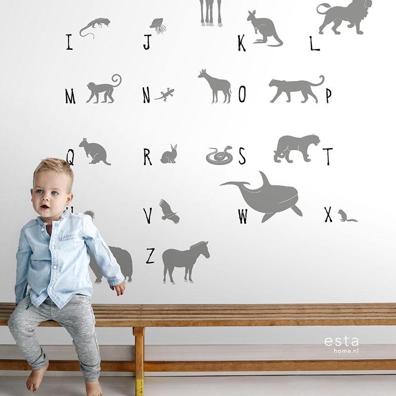 Mural infantil ESTAhome Let's Play!  ABC animals 153-158923