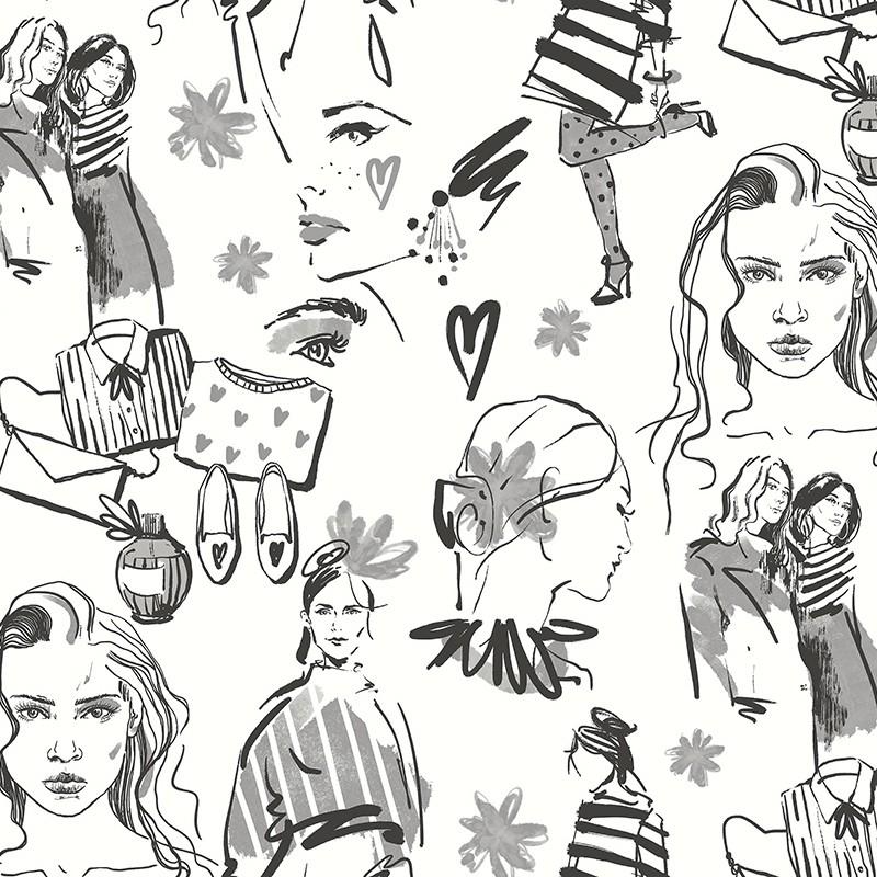 Papel Pintado Fiona Walldesign No Limits Fashion 641229