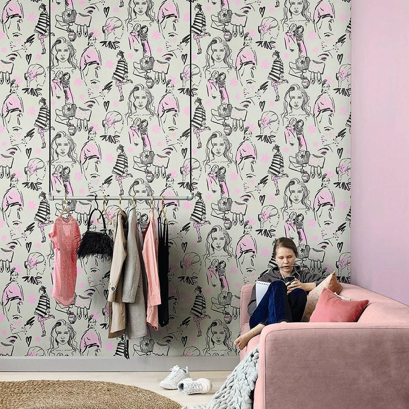 Papel Pintado Fiona Walldesign No Limits Fashion 641230