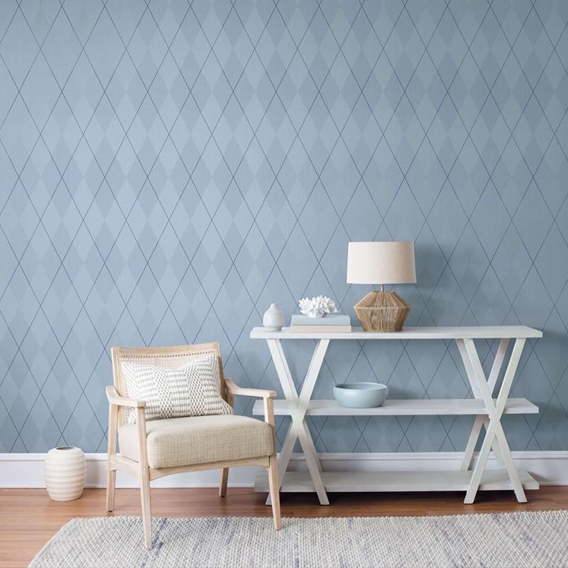 Papel pintado Wallquest Navy, grey & white BL72012