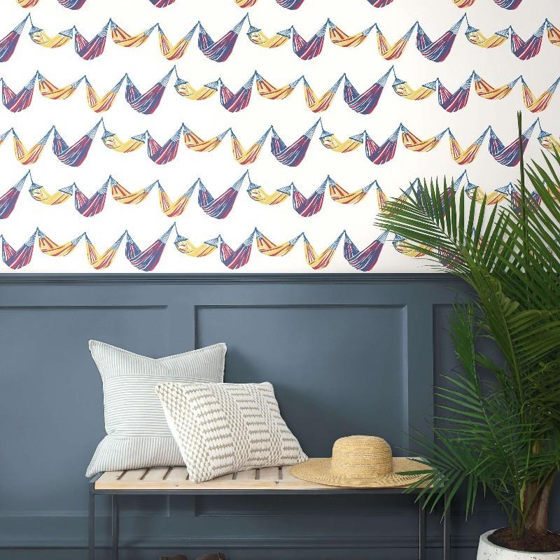 Papel pintado Wallquest Navy, grey & white BL71001