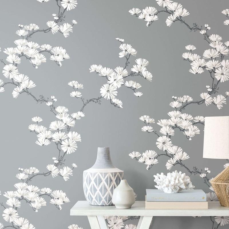 Papel pintado Wallquest Navy, grey & white BL70508