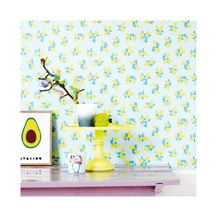 Mural eijffinger rice para habitacion juvenil lemon for Mural habitacion juvenil