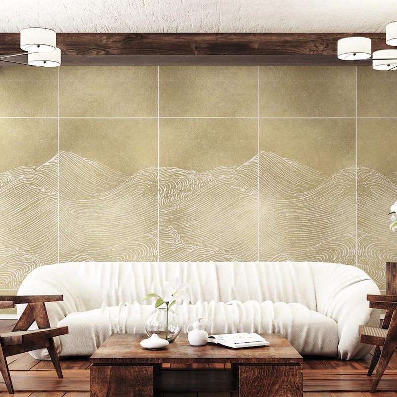 Mural Coordonné Random Metallics Waves 9600500