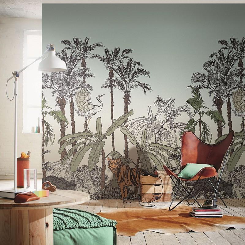 Mural Casadeco Beauty Full Image 2 Jungle Enchantée BFM102433296