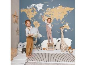 Mural Casadeco Beauty Full Image 2 World Map BFM102032066