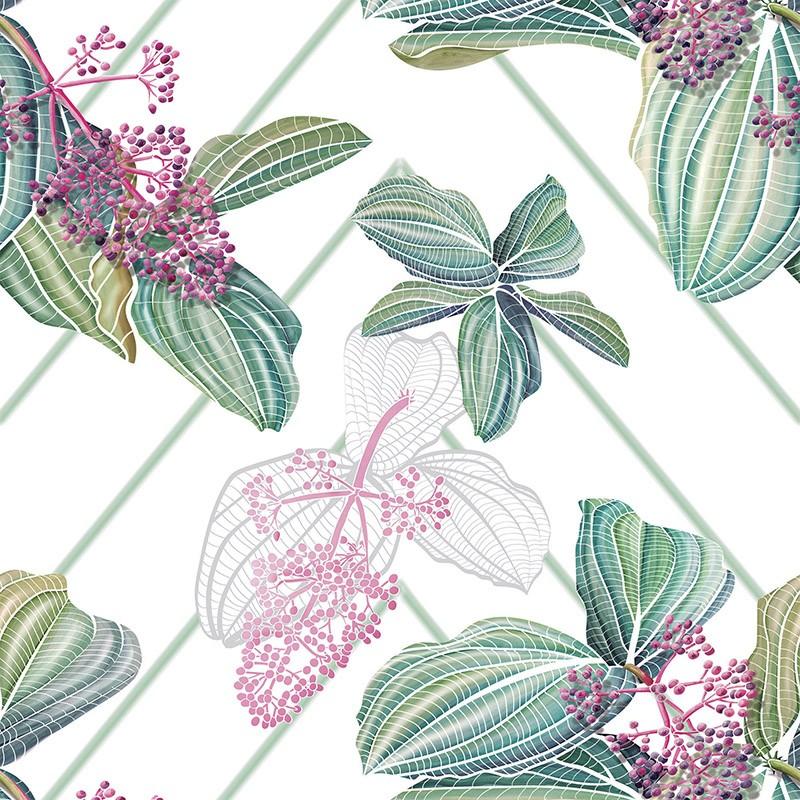 Papel Pintado AtelierWall Collection 2020 Tropical Chandelier A18 002