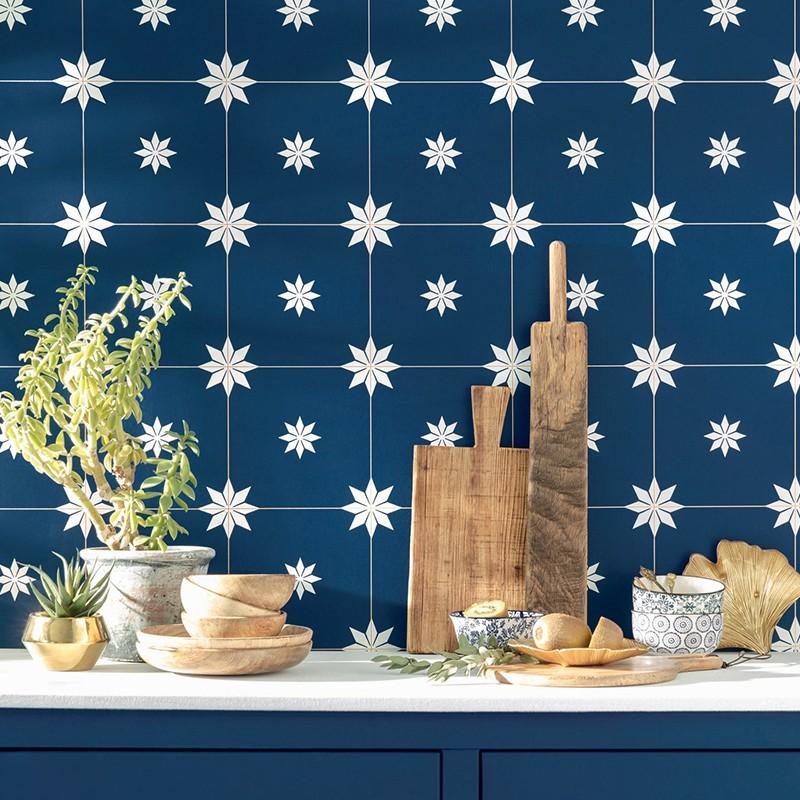 Papel Pintado Caselio Only Blue Trendy Tiles ONB102716202