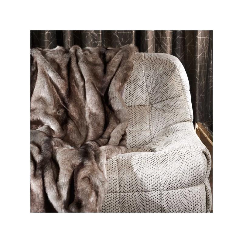Piel sint tica zinc textile shadow mountain furs - Mantas de piel sintetica ...