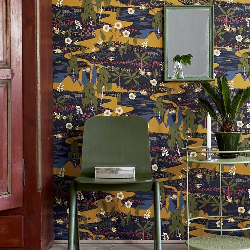 Papel pintado boras tapeter wonderland papeles para for Papel para empapelar habitaciones