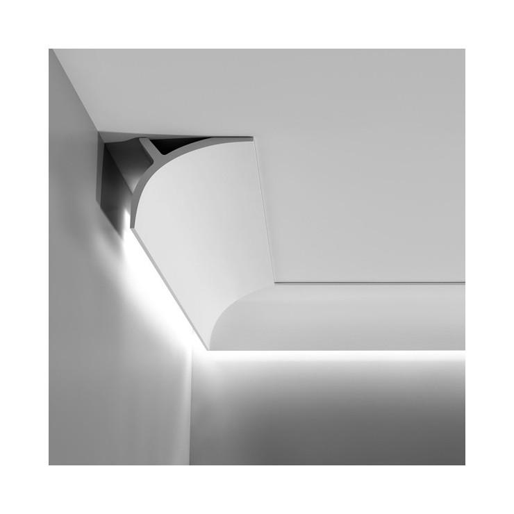 Orac decor cornisa iluminacion luxxus decoracion de habitaciones - Cornisa para led ...