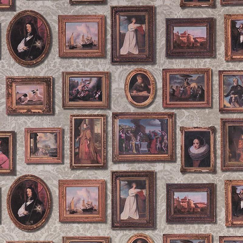 Papel Pintado Andrew Martin Museum Gallery Taupe