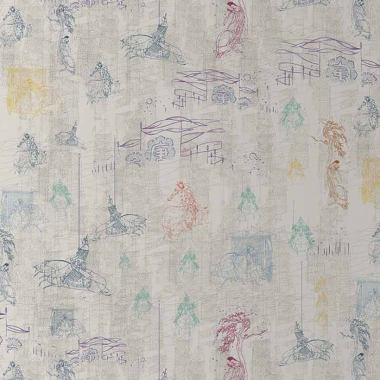 Papel Pintado Tres Tintas Silk Road 2205-7
