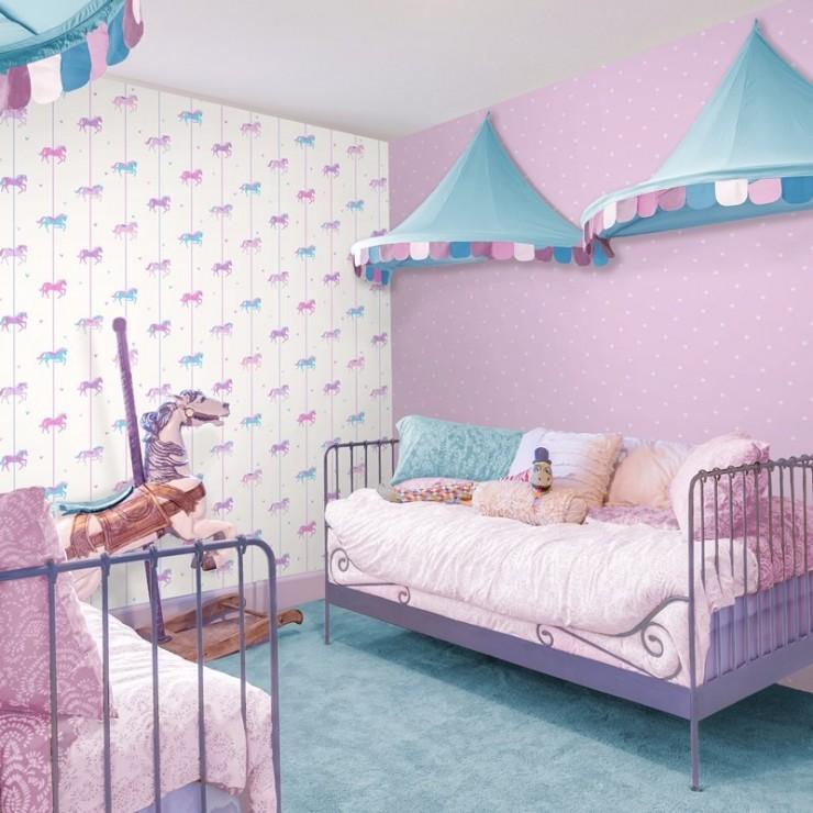 Papel Pintado Decorline Carousel Papel Para Empapelar Habitaciones Infantiles