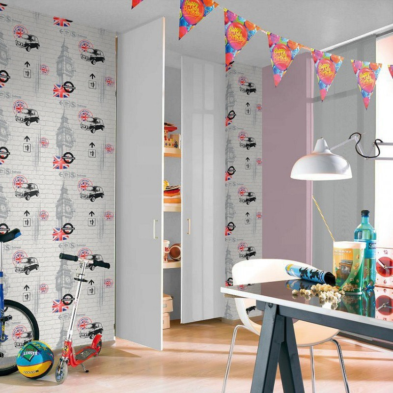 Papel pintado decoas kids zone papel para empapelar for Papel pintado juvenil pared