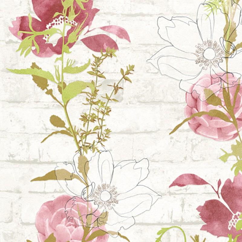 Papel Pintado As Creation Urban Flowers 32800-4