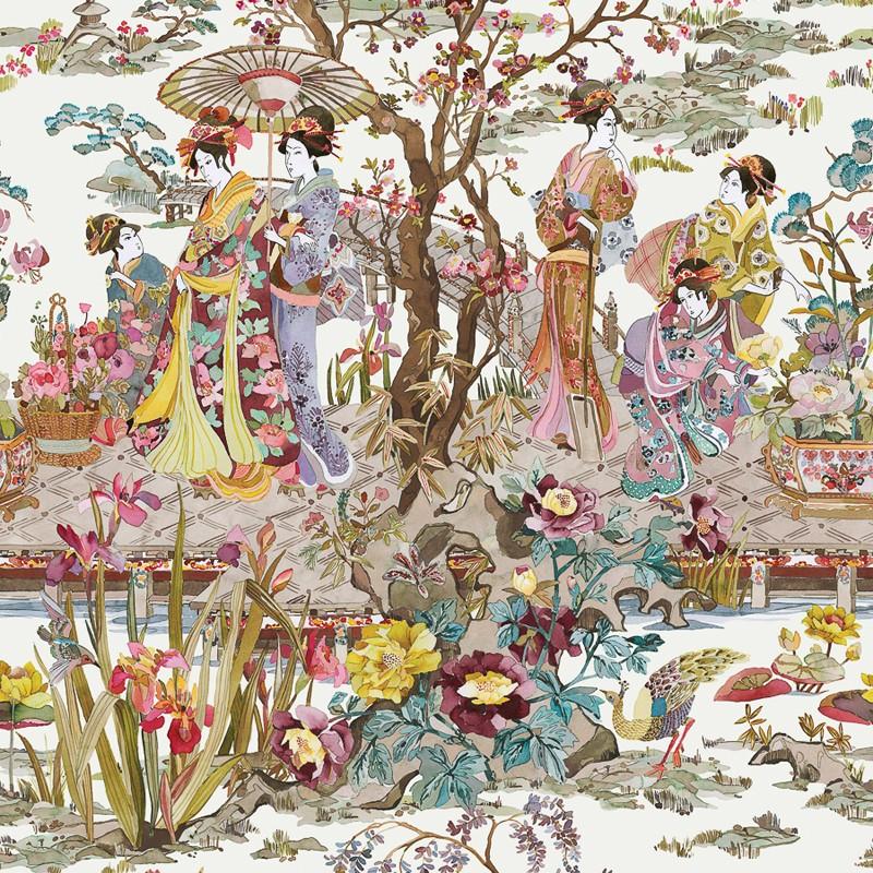 Papel Pintado Osborne & Little Enchanted Gardens W7024-03