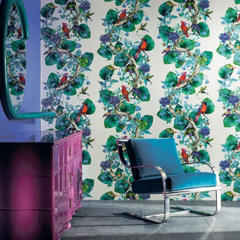 Papel Pintado Osborne & Little Enchanted Gardens W7026-01 A