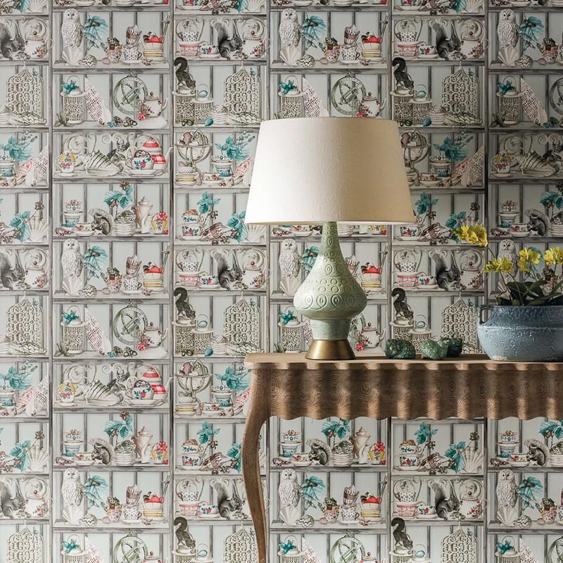Papel Pintado Osborne & Little Enchanted Gardens W7028-01 A