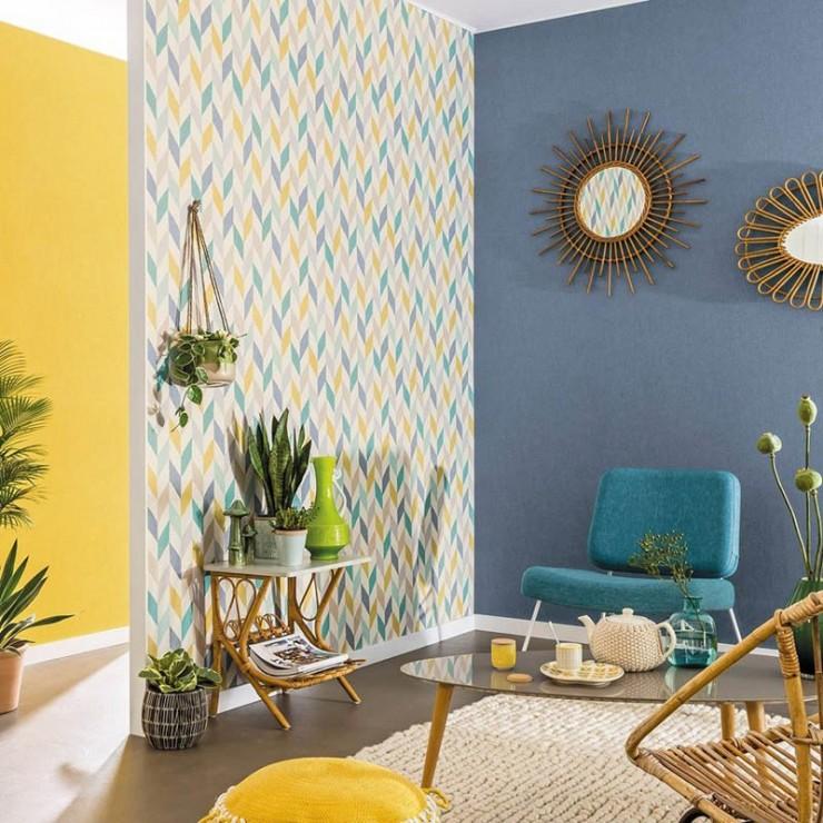 Papel pintado swing de caselio papel pintado para pared - Combinar papel pintado y pintura ...
