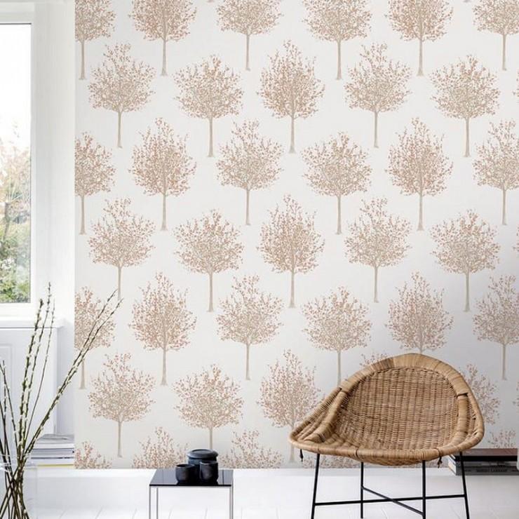 Papel lavable para paredes trendy brillo de plata moderna - Papel pared lavable ...