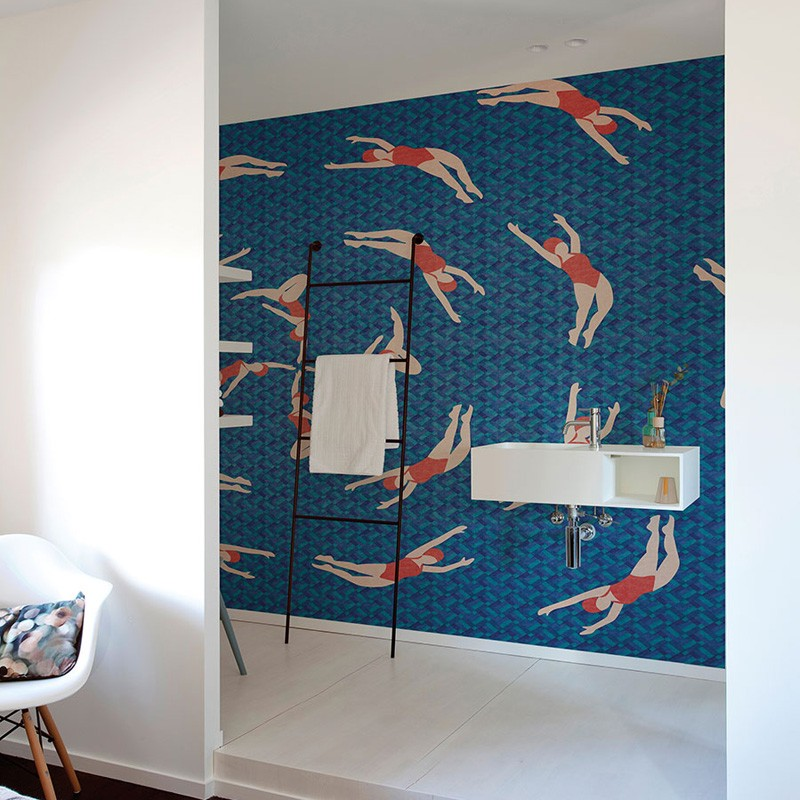 Mural Coordonné Random Papers Swimmers 6500020N A
