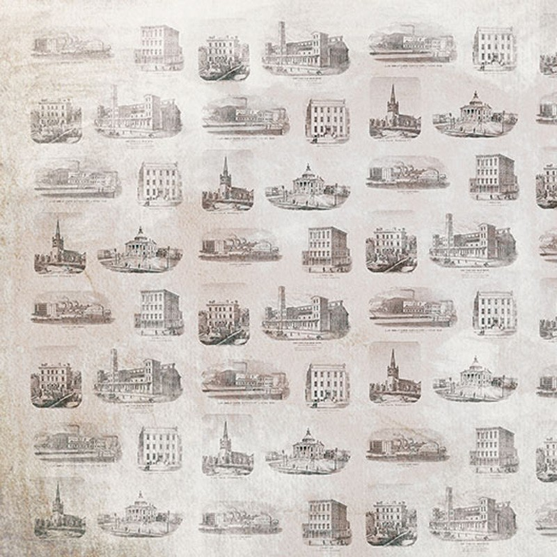 Mural Coordonné Random Papers Buildings 6500507N A