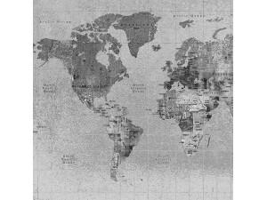 Mural Coordonné Random Papers Newspaper Map 6500108N A