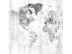 Mural Coordonné Random Papers Newspaper Map 6500107N A
