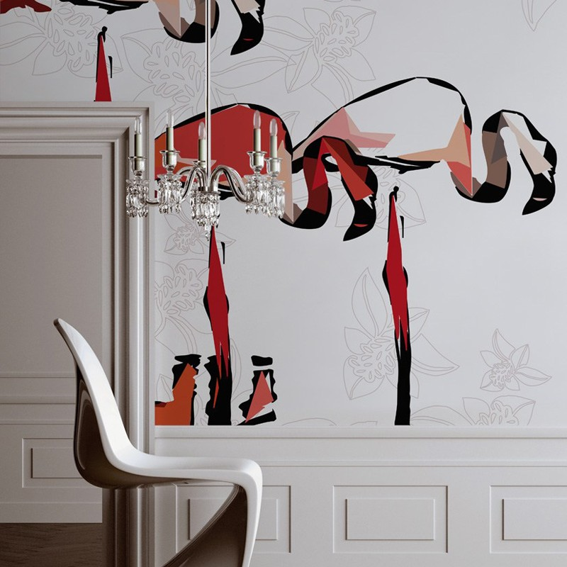 Mural Wall&Deco Contemporary Wallpapers 2010 Flamingo Dada BBFD0901 A