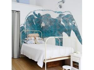Mural Wall&Deco Contemporary Wallpapers 2011 Aqua Elephas BBAE1102 A