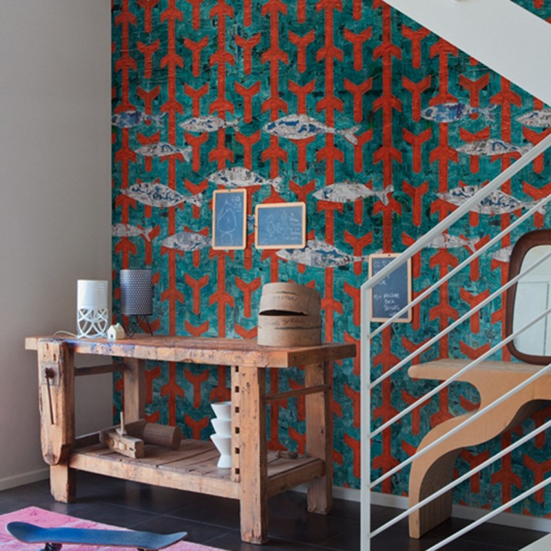 Mural Wall&Decò Contemporary Wallpapers 2014 Fish Wish WDFW1401 A