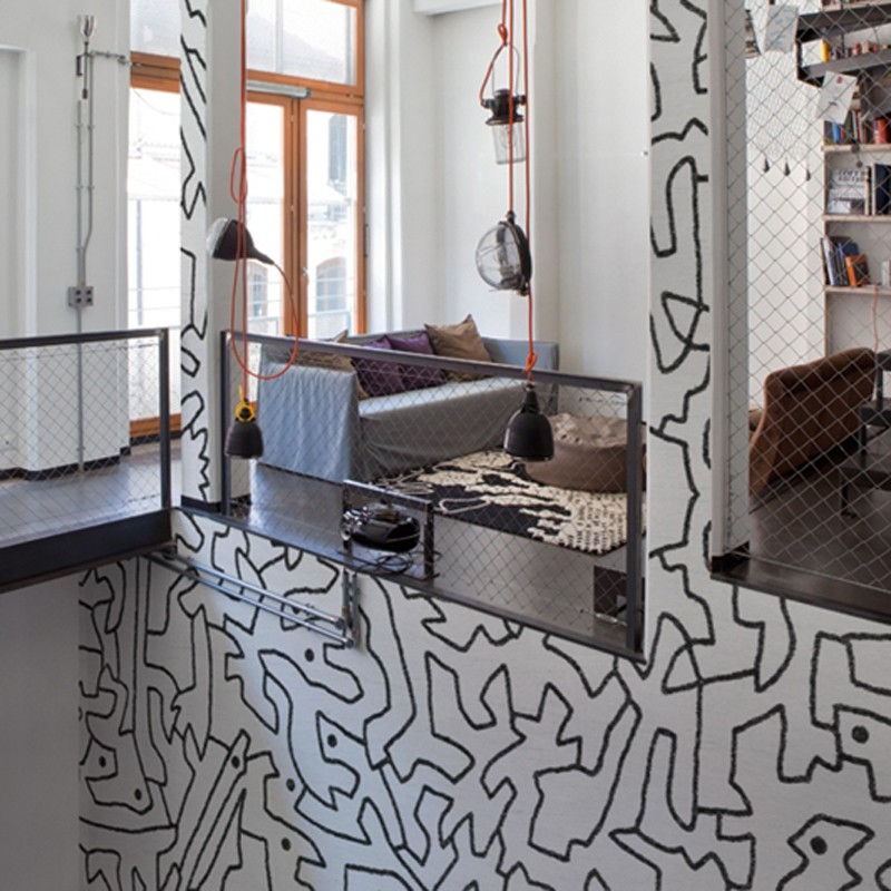 Mural Wall&Decò Contemporary Wallpapers 2014 Black Spaces WDBS1401 A