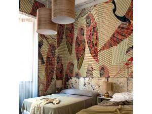 Mural Wall&Decò Contemporary Wallpapers 2016 Pencil Birds WDPB1601 A