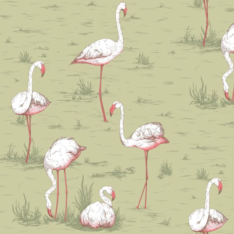 Papel pintado Cole & Son Icons Flamingos 112-11038