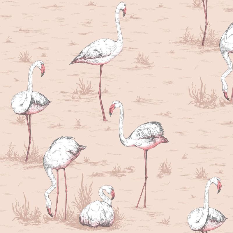 Papel pintado Cole & Son Icons Flamingos 112-11039